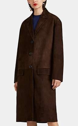 Prada Women's Suede Long Coat - Dk. brown