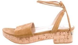 Valentino Suede Wrap-Around Sandals