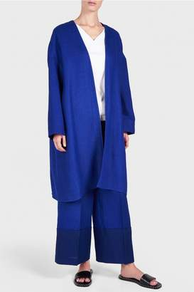 Enfold Top Linen Coat