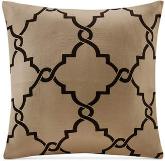 "Madison Park Saratoga 20"" Square Fretwork-Print Decorative Pillow"