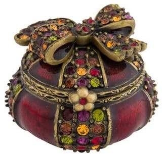 Jay Strongwater Embellished Bow Pill Box