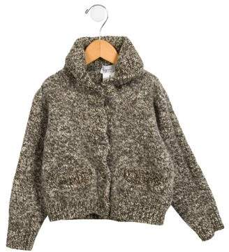 agnès b. Girls' Wool Shawl Collar Cardigan