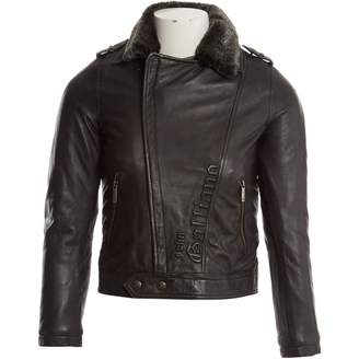 John Galliano Black Leather Jacket & Coat