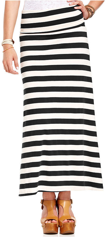 American Rag Juniors Skirt, Striped Maxi
