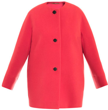Balenciaga House classic collarless coat