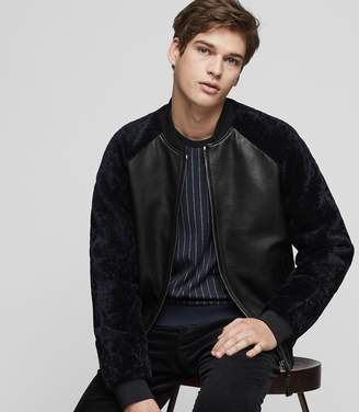 Reiss Bambrough Leather Bomber Jacket