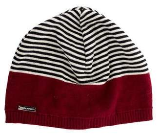 DSQUARED2 Patterned Wool Knit Beanie w/ Tags
