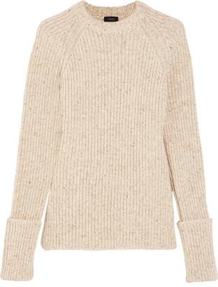 Joseph - Ribbed Wool-blend Sweater - Ecru $395 thestylecure.com