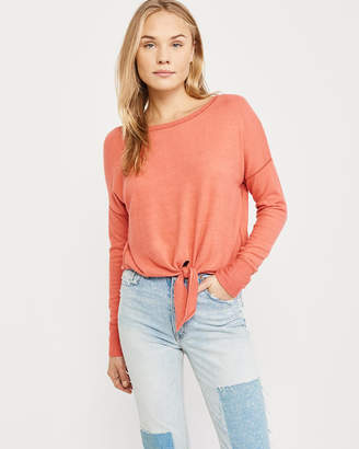 Abercrombie & Fitch Cozy Tie-Front Top