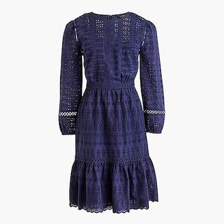 J.Crew Eyelet flutter-hem dress
