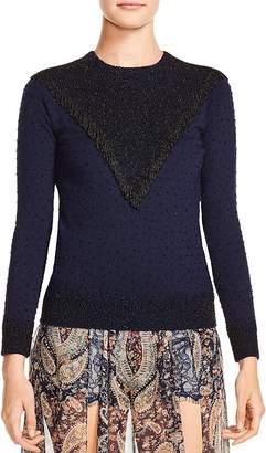 Haute Hippie Lucky Stars Embellished Sweater