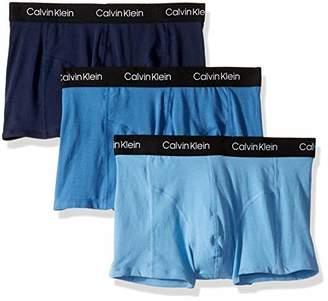 Calvin Klein Men's Elements 3 Pack Trunks,L
