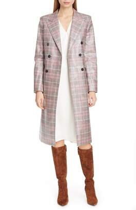 TOMMY X ZENDAYA Double Breasted Check Coat