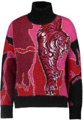 Just Cavalli Intarsia-Knit Turtleneck Sweater