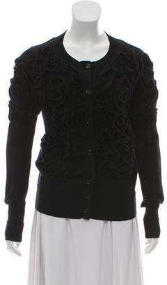 Sonia Rykiel Sonia by Ruffled Crew Neck Cardigan