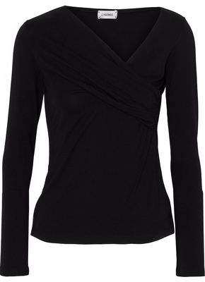 L'Agence Karlie Wrap-Effect Jersey Top