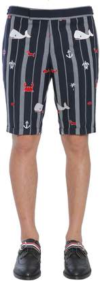 Thom Browne Low Waist Skinny Shorts