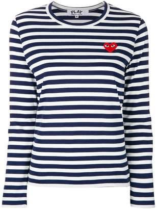 Comme des Garcons striped logo top