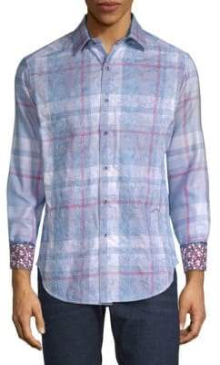Robert Graham Plaid Cotton Button-Down Shirt
