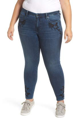 Lucky Brand Embroidered Skinny Jeans