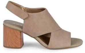 Anne Klein Damaire Nubuck High Heel Sandals