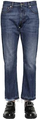 Alexander McQueen 21cm Released Hem Cotton Denim Jeans