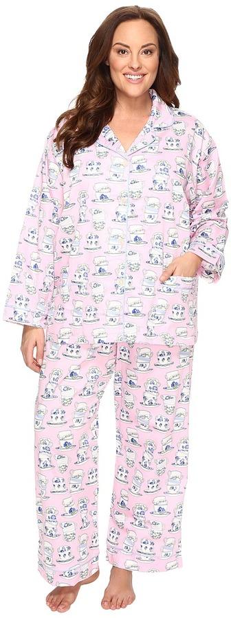 BedHeadBedHead Plus Size Long Sleeve Front Pocket Pajama Set