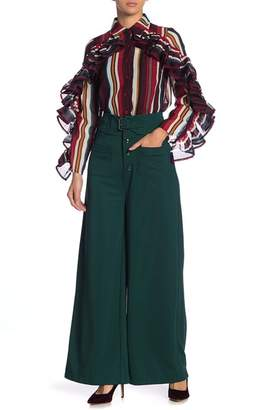 Gracia Front Pocket Belted Wide Leg Pants