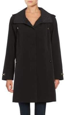 Gallery Petite Hooded A-Line Rain Jacket