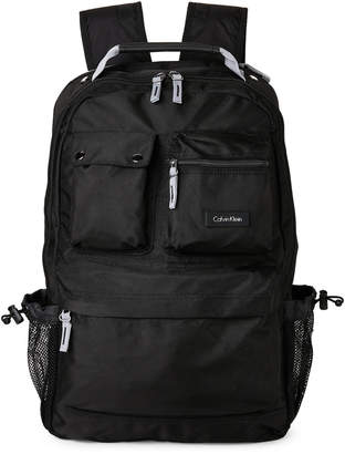 Calvin Klein Black Multi Pocket Backpack