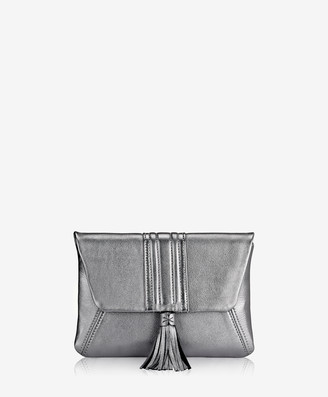 GiGi New York Ava Clutch, Pewter Metallic