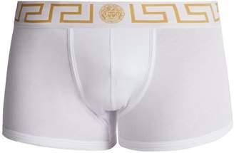 Versace Logo-jacquard stretch-cotton boxer trunks