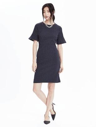 Ponte Pinstripe Dress $98 thestylecure.com