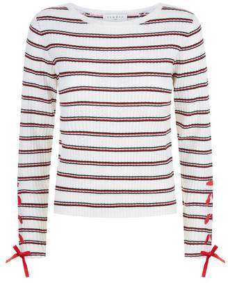 Sandro Ribbed Striped Sweater