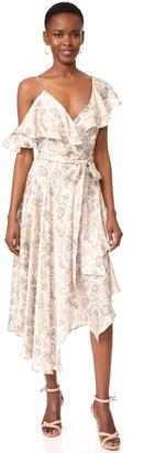 Zimmermann Stranded Flared Wrap Dress $850 thestylecure.com
