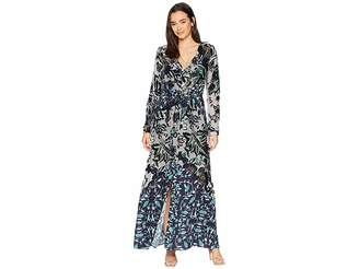 Hale Bob Cover Story Silk/Rayon Velvet Burnout Aurora Dress Women's Dress