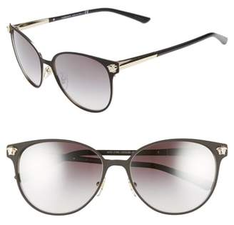 Versace Glam Medusa 57mm Cat Eye Sunglasses