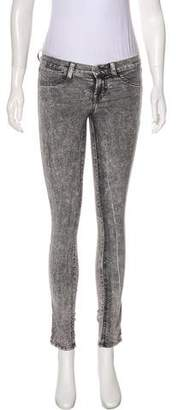 J Brand Acid Wash Low-Rise Jeans