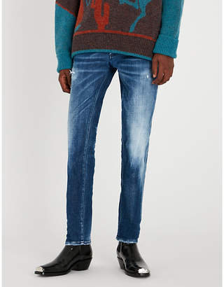 DSQUARED2 Distressed slim-fit straight jeans