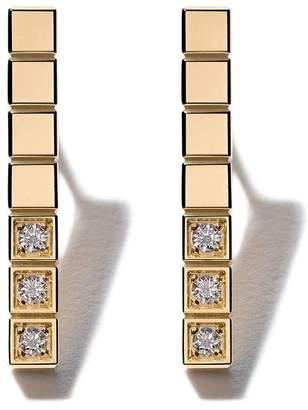 Chopard (ショパール) - Chopard アイスキューブ ピュア ダイヤモンド ピアス 18Kイエローゴールド