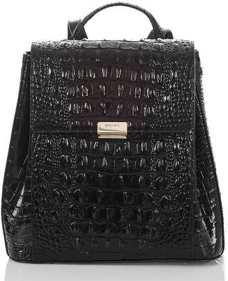 Brahmin Margo Croc Embossed Leather Backpack