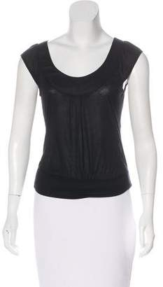 Diane von Furstenberg Sleeveless Scoop Neck Top
