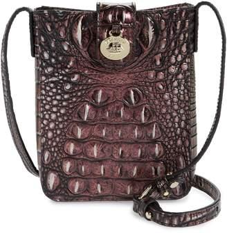 0bcefb954 Brahmin Marley Croc Embossed Leather Crossbody Bag