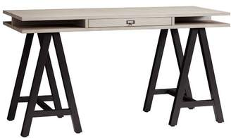 Pottery Barn Teen Customize-It Storage A Frame Desk, Water-Based Brushed Fog Desktop / Matte Black Base