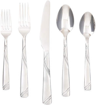 Cambridge Silversmiths Tabitha Sand Swirl 45-pc. Flatware Set
