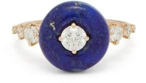 Fernando Jorge Orbit 18kt Rose Gold, Lapis & Diamond Ring - Womens - Blue