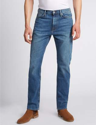Marks and Spencer Straight Fit Stretch Jeans