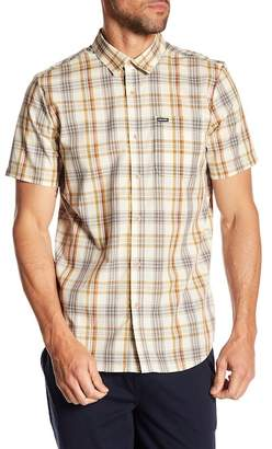 Volcom Surplus Short Sleeve Plaid Print Modern Fit Shirt