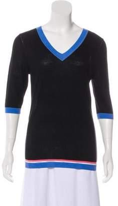 Roksanda Wool-Blend V-Neck Sweater