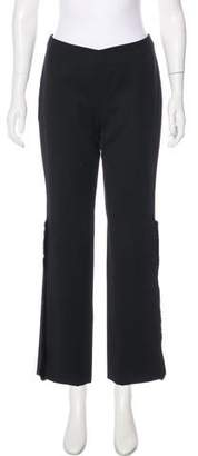 Gianni Versace Wool Mid-Rise Pants
